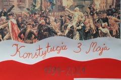 03.05.2021 Konstytucja 3 Maja. Plakaty uczniów I Szkoły Społecznej. Koordynator p. Koniczek